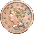 Patterns, 1863 3C Three Cents, Judd-319, Pollock-384, R.5, PR65 Brown NGC....