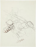 Original Comic Art:Sketches, Neal Adams Green Arrow Sketch Original Art (1980)....