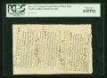 Colonial Notes:North Carolina, North Carolina December, 1771 Sheet of Three 2s6d, 5s, 1s PCGSChoice New 63PPQ.... (Total: 1 sheet)