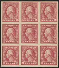 5c Carmine, Error of Color, Imperf (485)