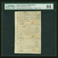 Colonial Notes:North Carolina, North Carolina December 1771 Sheet of Three 2s6d, £1 and 10s PMG Choice Uncirculated 64.. ... (Total: 1 sheet)