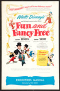"Movie Posters:Animated, Fun and Fancy Free Lot (RKO, 1947). Pressbooks (2) (Multiple Pages,11"" X 17""). Animated.. ... (Total: 2 Items)"