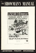 "Movie Posters:Horror, Revenge of the Creature Lot (Universal International, 1955). Pressbooks (2) (Multiple Pages,12"" X 18"") 3-D Version. Horror.... (Total: 2 Items)"