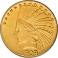 1909 $10 Satin Proof--Altered Surfaces--ANACS. PR60 Details