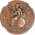 Patterns, 1870 $1 Dollar, Judd-1016, Pollock-1150, Low R.7, PR62 BrownNGC....