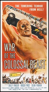 "War of the Colossal Beast (American International, 1958). Three Sheet (41"" X 81""). Science Fiction"