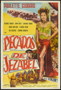 "Movie Posters:Historical Drama, Sins of Jezebel (Lippert, 1953). Argentinean Poster (29"" X 43"").Historical Drama.. ..."