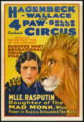 """Movie Posters:Miscellaneous, Circus Poster (Hagenbeck Wallace & 4 Paw-Sells Bros, 1935).Poster (28.25"""" X 41""""). Miscellaneous.. ..."""