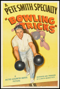 """A Pete Smith Specialty (MGM, 1947). One Sheet (27"""" X 41"""") """"Bowling Tricks"""". Short Subject"""