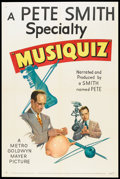 "Movie Posters:Short Subject, A Pete Smith Specialty (MGM, 1952). One Sheet (27"" X 41"")""Musiquiz"". Short Subject.. ..."
