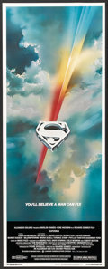 "Movie Posters:Action, Superman the Movie (Warner Brothers, 1978). Insert (14"" X 36"").Action.. ..."