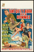 """Movie Posters:War, From Here to Eternity (Columbia, 1953). Belgian (14"""" X 22""""). War....."""