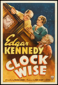"Movie Posters:Short Subject, Clock Wise (RKO, 1939). One Sheet (27"" X 41""). Short Subject.. ..."
