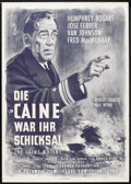 "Movie Posters:War, The Caine Mutiny (Columbia, R-1960s). German A1 (23"" X 33""). War....."