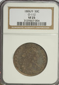 Early Half Dollars, 1806 50C 6 Over Inverted 6 VF25 NGC....
