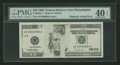 Error Notes:Missing Magnetic Ink, Fr. 2083-C $20 1996 Federal Reserve Note. PMG Extremely Fine 40EPQ.. ...