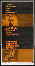 """Movie Posters:Drama, Days of Wine and Roses (Warner Brothers, 1963). Three Sheet (41"""" X 81""""). Drama.. ..."""