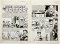 "Original Comic Art:Panel Pages, Johnny Craig Haunt of Fear #5 ""Seeds of Death"" pages 1 and 2Original Art (EC, 1951)...."