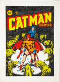 Original Comic Art:Covers, L. B. Cole Catman Comics #31 Cover Re-Creation Original Art(1980)....