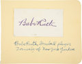 Autographs:Others, Circa 1940 Babe Ruth Signed Blank Business Card....