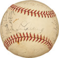 Autographs:Baseballs, 1937 New York Yankees Team Signed Baseball....