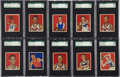 Basketball Cards:Lots, 1948 Bowman Basketball SGC 88 NM/MT 8 Collection (17 Different)....