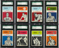 Basketball Cards:Lots, 1961-62 Fleer Basketball High Grade SGC Collection (15Different)....