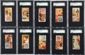 "Non-Sport Cards:Sets, 1889 N85 W. Duke ""Postage Stamps"" SGC-Graded Complete Set (50)...."