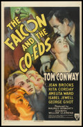 """Movie Posters:Crime, The Falcon and the Co-eds (RKO, 1943). One Sheet (27"""" X 41"""") StyleA. Crime.. ..."""