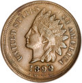 Errors, 1899 Indian Cent--Double Struck--XF40 NGC. ...
