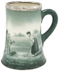 Golf Collectibles:Miscellaneous, 1902 Ladies Golf Tournament Runner-Up Ceramic Award Mug by Lenox....