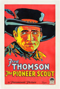 "Movie Posters:Western, The Pioneer Scout (Paramount, 1928). One Sheet (27"" X 41"") Style A.. ..."
