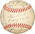 Autographs:Baseballs, 1952 Boston Red Sox Team Signed Baseball. ...