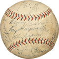 Autographs:Baseballs, 1933 New York Yankees & Detroit Tigers Signed Baseball withRuth, Gehrig....