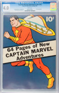 Golden Age (1938-1955):Superhero, Captain Marvel Adventures #nn (#1) (Fawcett, 1941) CGC VG 4.0 White pages....