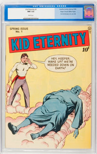 Kid Eternity #1 Mile High pedigree (Quality, 1946) CGC NM 9.4 White pages