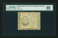 Colonial Notes:Continental Congress Issues, Continental Currency September 26, 1778 $50 PMG Extremely Fine40....