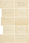 Autographs:Post Cards, 1940's-50's Major League Baseball Stars Signed Government PostcardsLot of 30....