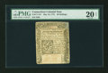 Colonial Notes:Connecticut, Connecticut May 10, 1775 20s Uncancelled PMG Very Fine 20 Net....