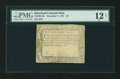 Colonial Notes:Maryland, Maryland December 7, 1775 $2 PMG Fine 12 Net....