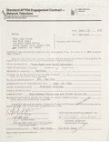 Music Memorabilia:Autographs and Signed Items, Rick James Signed Contract....