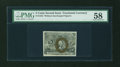 Fractional Currency:Second Issue, Fr. 1232 5¢ Second Issue PMG Choice About Unc 58....