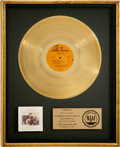 Music Memorabilia:Awards, Neil Young Comes a Time RIAA Gold Album Award, Presented toBilly Talbot....