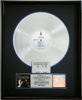 Music Memorabilia:Awards, The Doors RIAA Platinum Album Award....