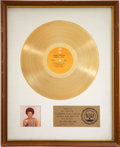 Music Memorabilia:Awards, Minnie Riperton Perfect Angel RIAA Gold Album Award....