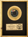 "Music Memorabilia:Awards, Foreigner ""I Want to Know What Love is"" RIAA Gold Single Award...."