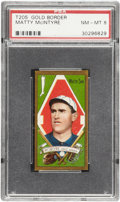 Baseball Cards:Singles (Pre-1930), 1911 T205 Gold Border Matty McIntyre PSA NM-MT 8 - Pop 3 With NoneHigher!...
