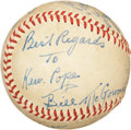 Autographs:Baseballs, 1940's Bill McGowan Single Signed Baseball....