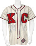 Baseball Collectibles:Uniforms, Negro League Stars Signed Jersey....