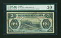 Canadian Currency: , DC-21b $5 1912.. ...